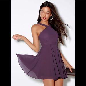 Forevermore Dusty Purple Skater Dress